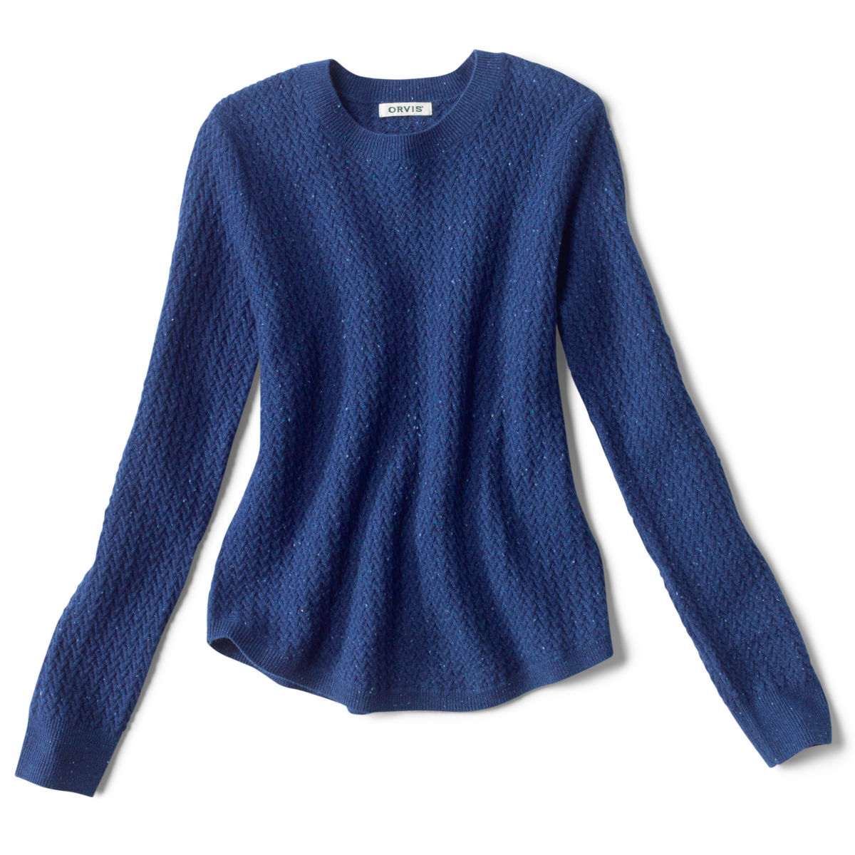 Donegal Crew Textured-Stitch Sweater - MOONLIGHT BLUEimage number 0
