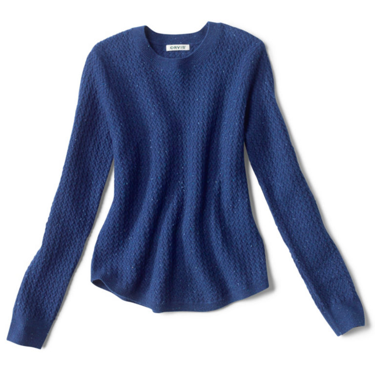 Donegal Crew Textured-Stitch Sweater - MOONLIGHT BLUE image number 0