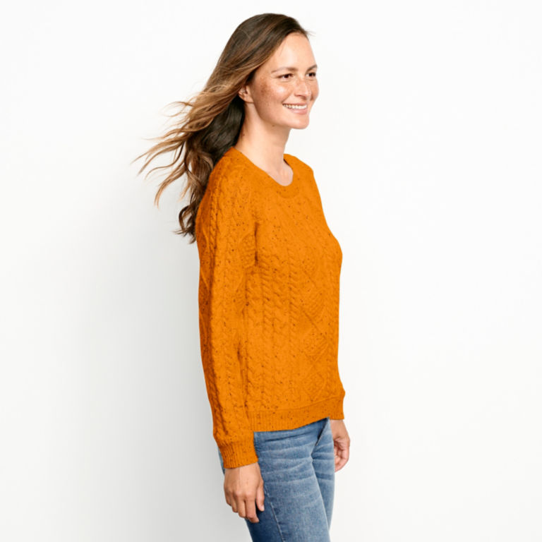 Donegal Cable Crew Sweater -  image number 1
