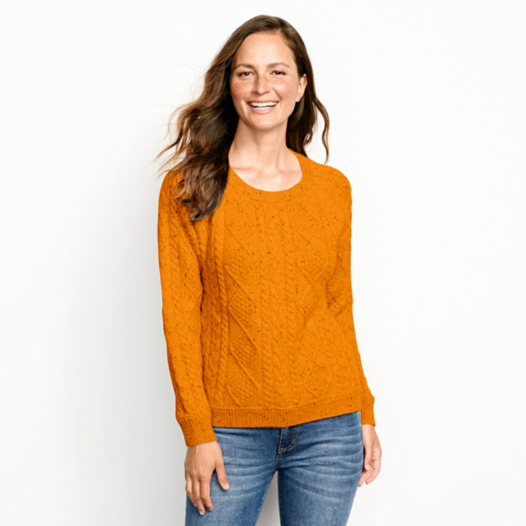 Donegal Cable Crew Sweater -  image number 0