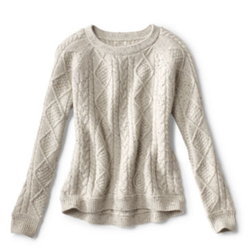Donegal Cable Crew Sweater -  image number 4