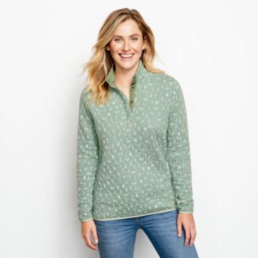 Outdoor Quilted Snap Sweatshirt -