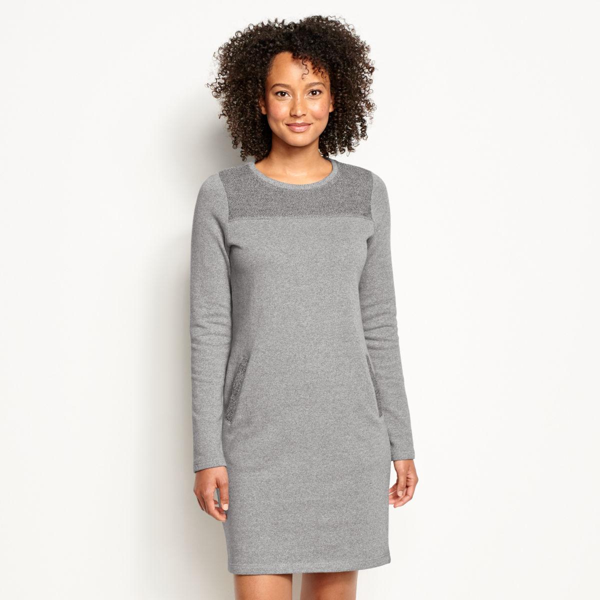 Reverse Terry Sweatshirt Dress - image number 0