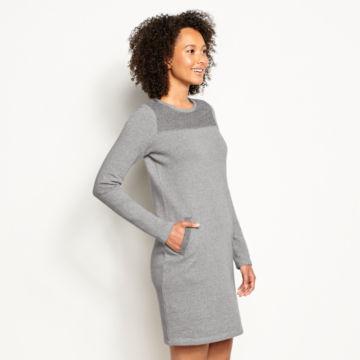 Reverse Terry Sweatshirt Dress -  image number 1