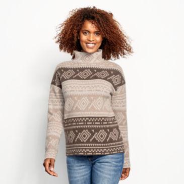 Natural Fair Isle Dolman Sweater -