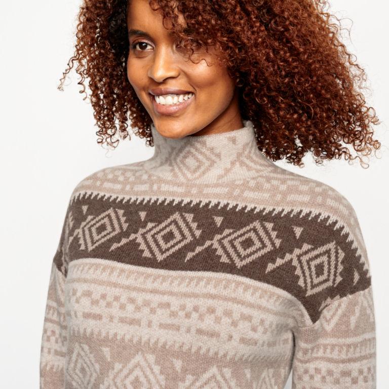 Natural Fair Isle Dolman Sweater -  image number 3