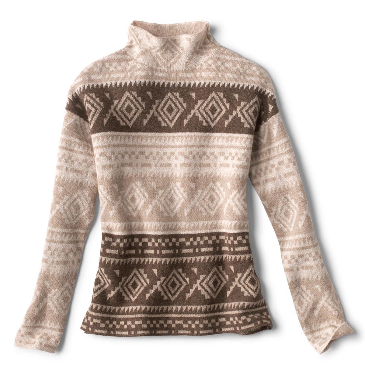 Natural Fair Isle Dolman Sweater - NATURALimage number 0