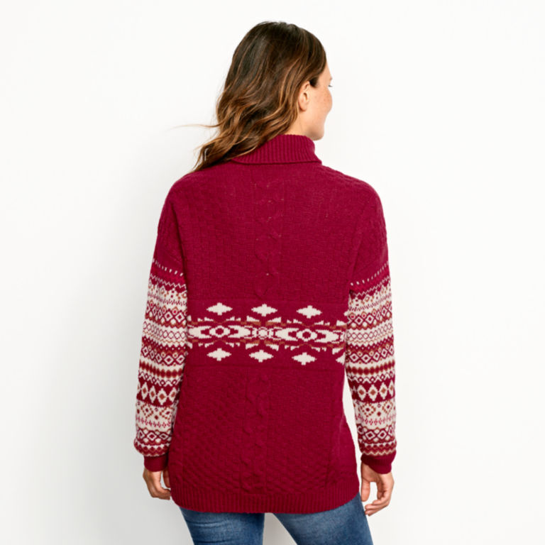 Alpine Fair Isle And Cable Turtleneck Sweater -  image number 2