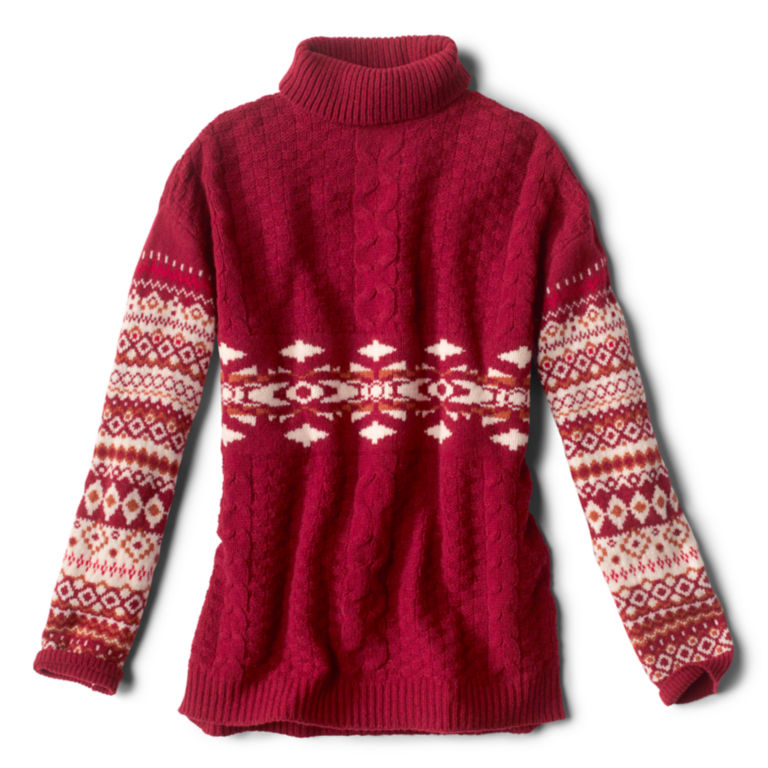 Alpine Fair Isle And Cable Turtleneck Sweater -  image number 4
