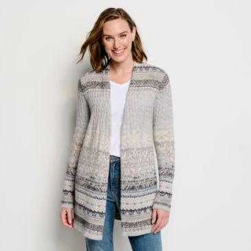 Alpine Fair Isle Sweater Coat -