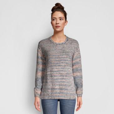 Artisanal Marled Yarn Crewneck Sweater -