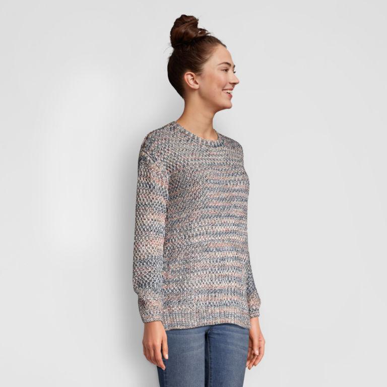 Artisanal Marled Yarn Crewneck Sweater -  image number 1