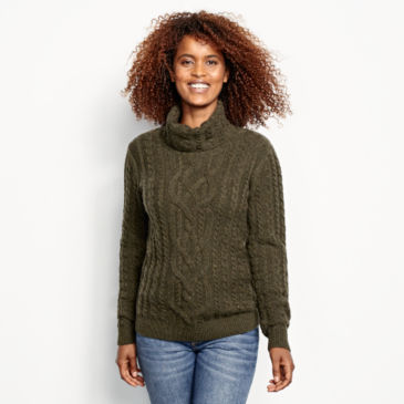Donegal Cable Turtleneck Sweater -