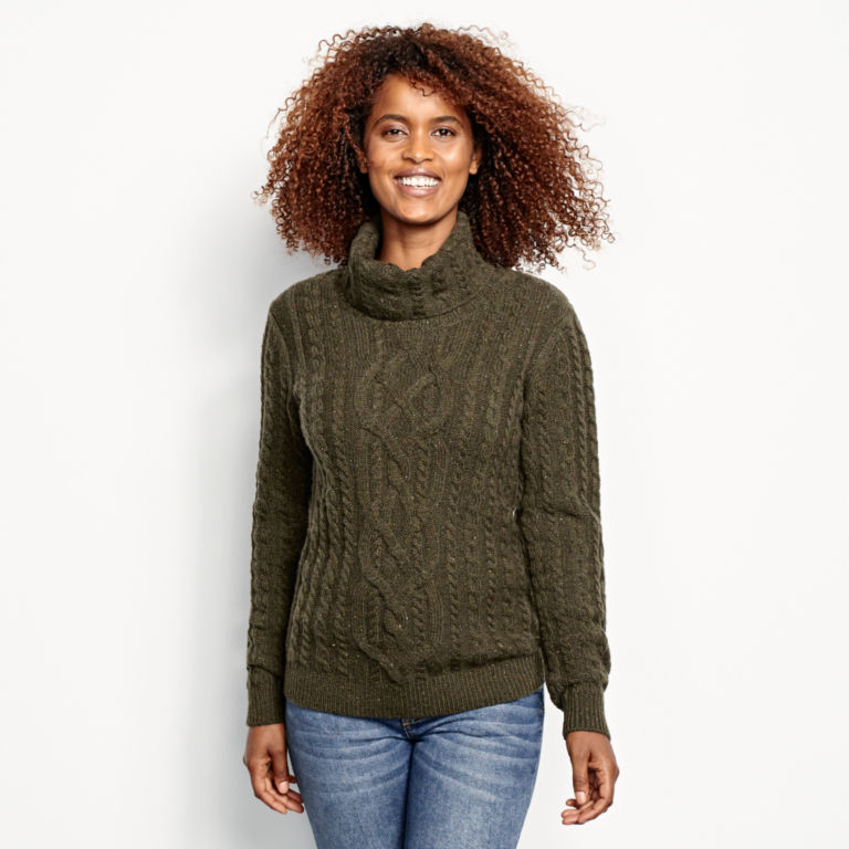 Donegal Cable Turtleneck Sweater -  image number 0