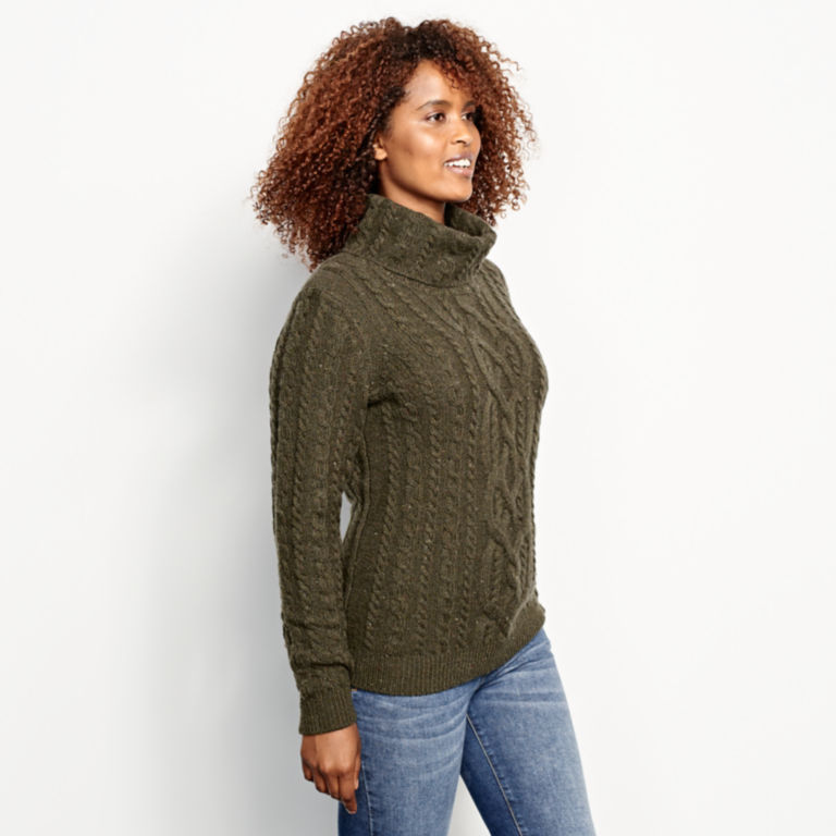 Donegal Cable Turtleneck Sweater -  image number 1