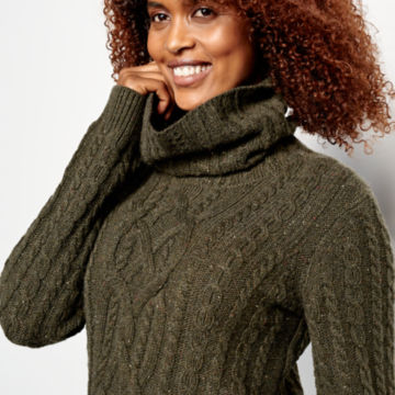 Donegal Cable Turtleneck Sweater -  image number 3