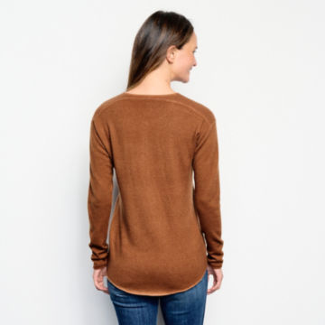 Garment-Dyed Cashmere Henley Sweater -  image number 2