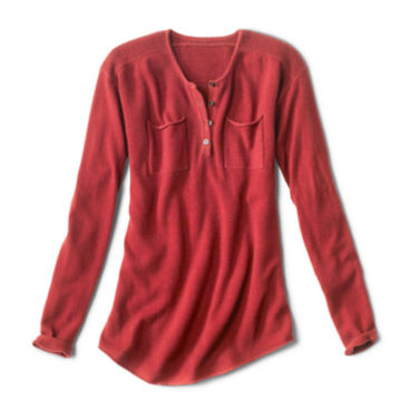 Garment-Dyed Cashmere Henley Sweater -  image number 4