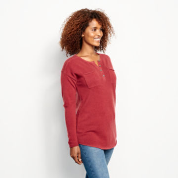 Garment-Dyed Cashmere Henley Sweater -  image number 1