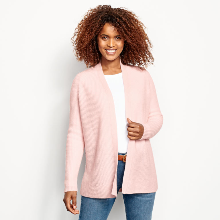 Lightweight Cashmere Cardigan Sweater - ROSE image number 1