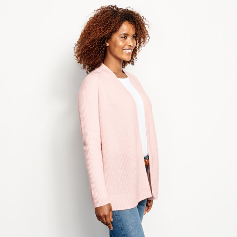 Lightweight Cashmere Cardigan Sweater - ROSE image number 2