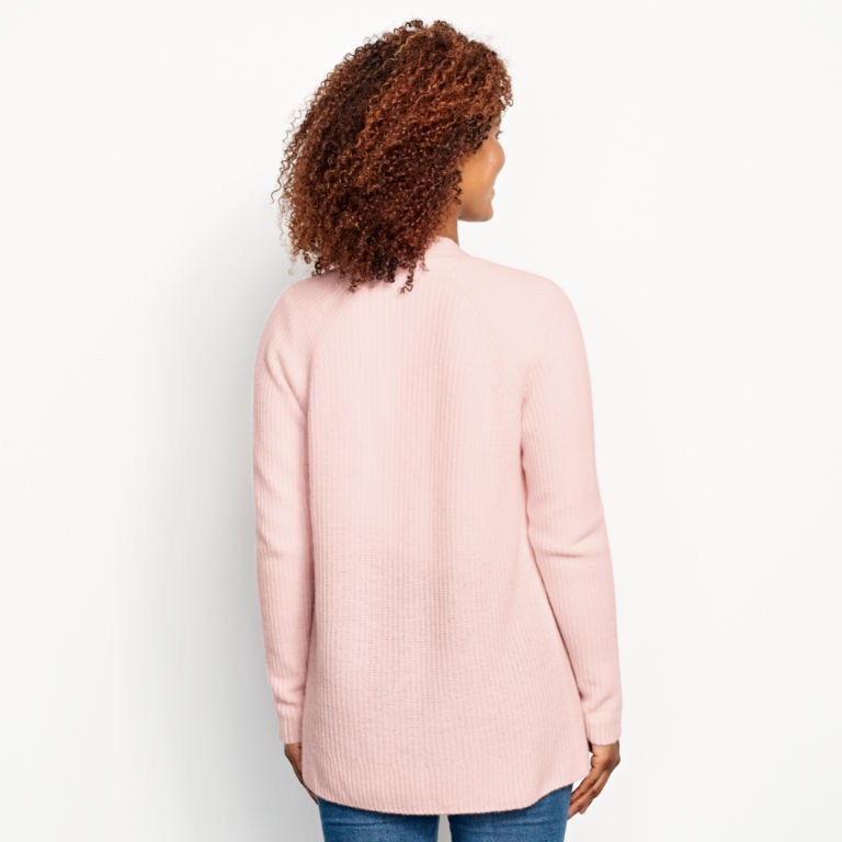 Lightweight Cashmere Cardigan Sweater - ROSE image number 3