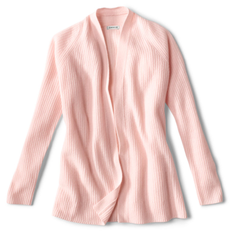 Lightweight Cashmere Cardigan Sweater - ROSE image number 0