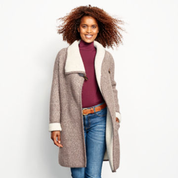 Left Bank Double-Knit Sweater Coat - NATURAL image number 4