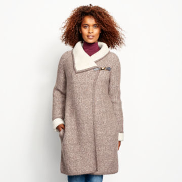 Left Bank Double-Knit Sweater Coat - NATURAL image number 1