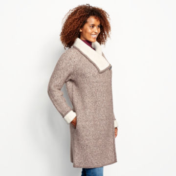 Left Bank Double-Knit Sweater Coat - NATURAL image number 2