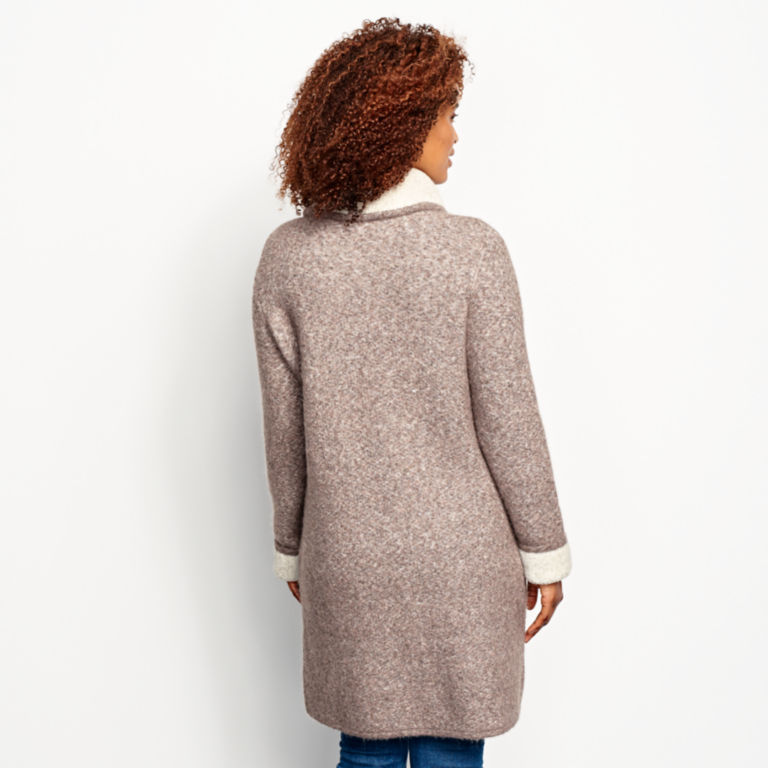 Left Bank Double-Knit Sweater Coat - NATURAL image number 3