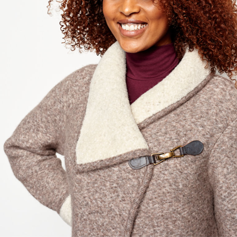 Left Bank Double-Knit Sweater Coat - NATURAL image number 5
