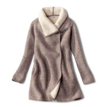 Left Bank Double-Knit Sweater Coat - NATURAL image number 0