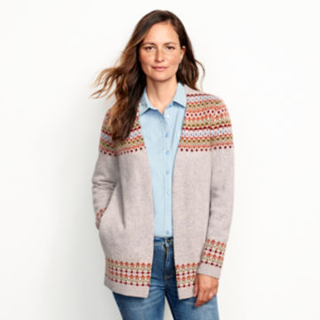 Multicolor Fair Isle Cardigan Sweater - MULTIimage number 1