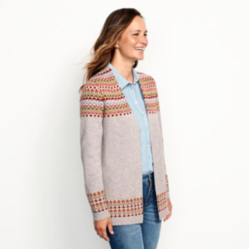 Multicolor Fair Isle Cardigan Sweater - MULTI image number 2