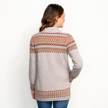 Multicolor Fair Isle Cardigan Sweater - MULTI image number 3