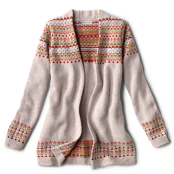 Multicolor Fair Isle Cardigan Sweater - MULTIimage number 0