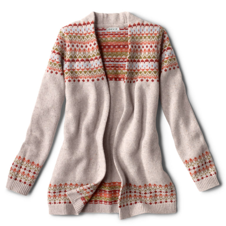Multicolor Fair Isle Cardigan Sweater - MULTI image number 0