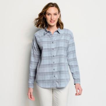 Yarn-Dyed Soft Plaid Corduroy Shirt -