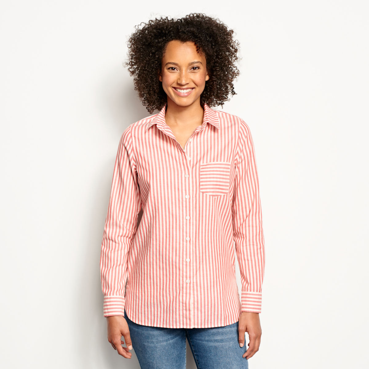 Lightweight Striped Oxford Tunic - image number 0