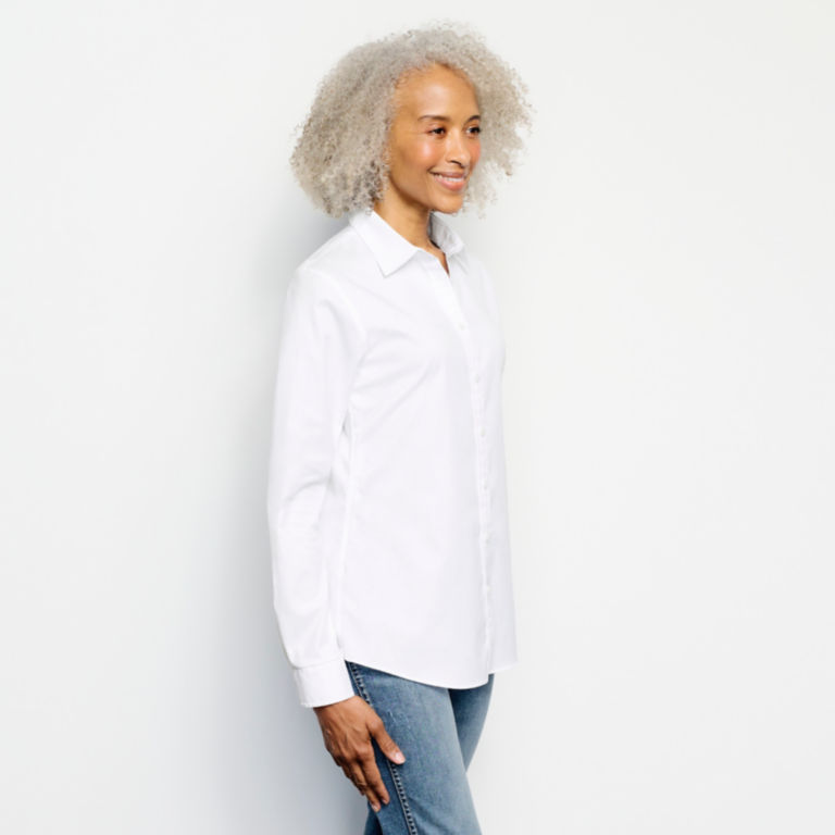 Wrinkle-Free Classic Shirt - WHITE image number 1