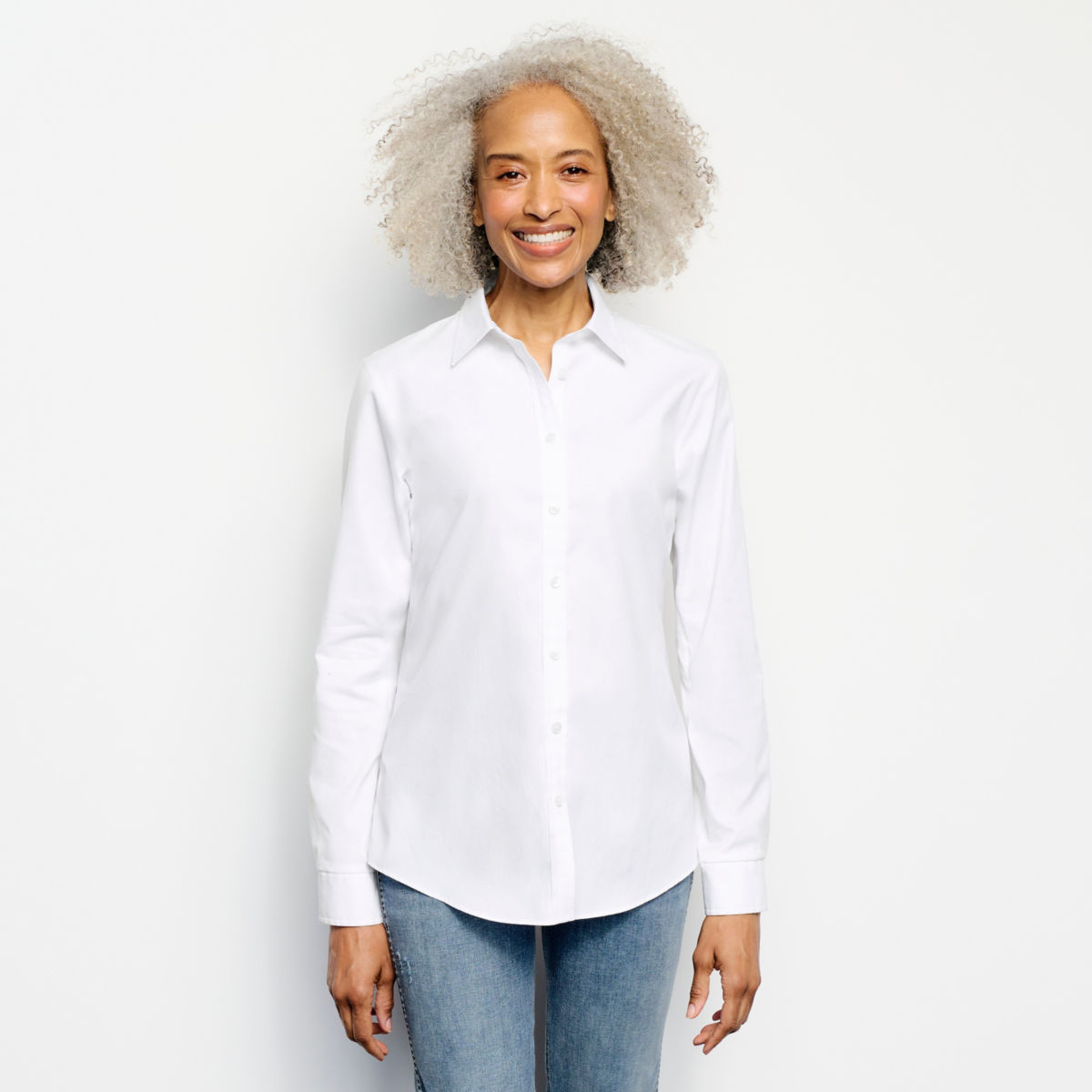 Wrinkle-Free Classic Shirt - WHITEimage number 0