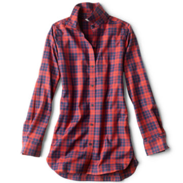 Wrinkle-Free Plaid Tunic Shirt -  image number 0