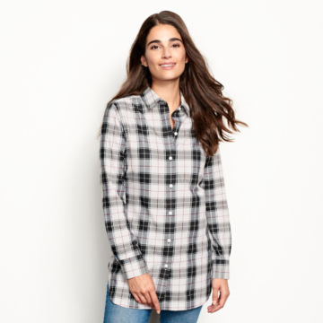 Wrinkle-Free Plaid Tunic Shirt -  image number 1