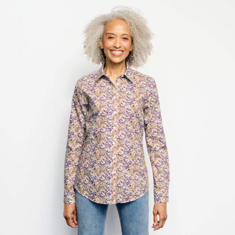 Wrinkle-Free Patterned Shirt -  image number 0