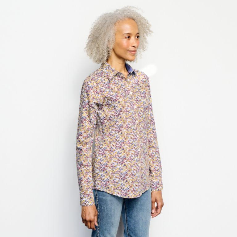 Wrinkle-Free Patterned Shirt -  image number 1