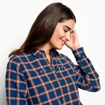 Crushed Herringbone Popover Shirt -  image number 3
