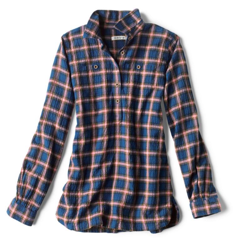 Crushed Herringbone Popover Shirt -  image number 4