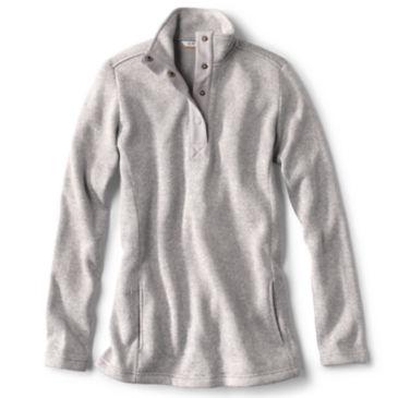 Sweater Fleece Quarter-Snap Tunic -