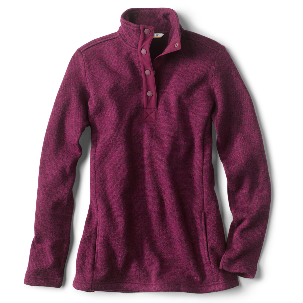 Sweater Fleece Quarter-Snap Tunic - image number 0